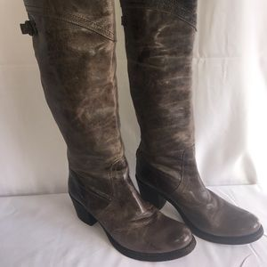 Frye Jane over the Knee Distressed Boots 8.5